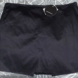 Black asymmetrical skirt
